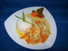 Putenfleisch mit Curry und Möhren - Rezept