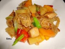 Wok-Hähnchen mit Ananas und Paprika - Rezept