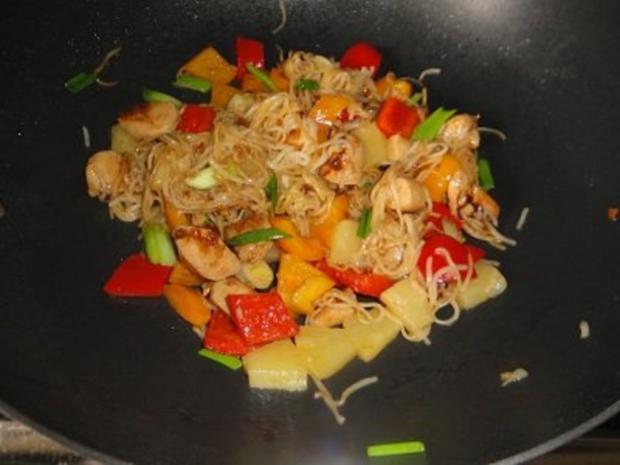 Wok-Hähnchen mit Ananas und Paprika - Rezept - Bild Nr. 7