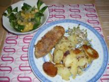 Bratkartoffeln mit Seitan und Feldsalat - Rezept