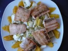 Chicoree - Salat mit Lachs - Rezept