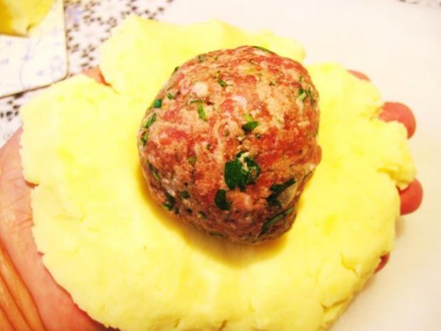 Gefüllte Kartoffelklöße ... - Rezept - Bild Nr. 4