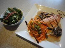 Lachs Filet in Pflaumen Sahne - Rezept