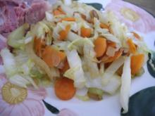 Gemüsebeilage : Geschmortes Gemüse - Rezept