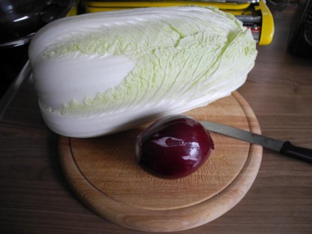Gemüsebeilage : Geschmorten Chinakohl aus dem Backofen - Rezept - Bild Nr. 2