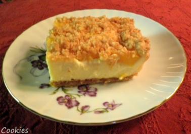 Kleiner Amarettini - Pfirsich - Käse - Kuchen - Rezept