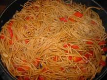 scharfe Vollkorn-Spagetti - Rezept