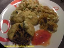 Asiatische Teigtaschen mit Bohnensprossensalat - Rezept
