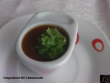 Rotweinsoße - Rezept
