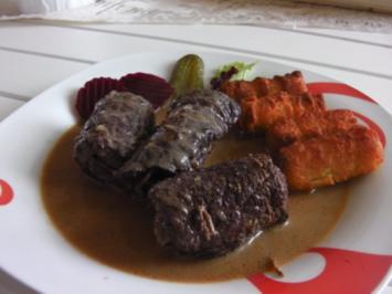 Rinderrouladen in Rotweinsoße - Rezept