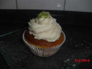 Buttermilch-Muffins mit Limettencreme, - Rezept