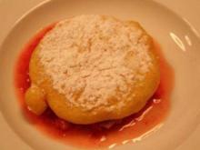 Dessert: Gebackenes Eis auf frischen Erdbeeren - Rezept