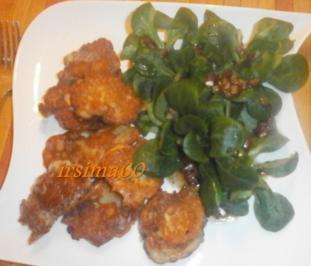 Gebackene Austernpilze an Feldsalat - Rezept