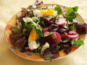 Salat mit Roter Bete und Ei - Rezept