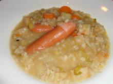 Erfrischende Gerstensuppe mit Knackerli - Rezept