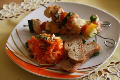 Fisch-Gemüse-Spieße - Rezept