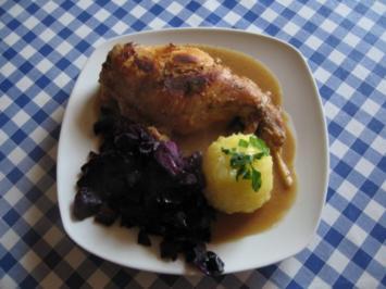 Rezept: Kaninchenbraten mit Rotkohl