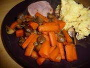 Karotten-Champignon Gemüse - Rezept