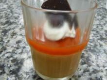 Dunkles Mousse au chocolate mit Blutorangengelee - Rezept