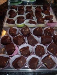 Rezept: Pralinen: Chocolate-Fudge...sehr süß