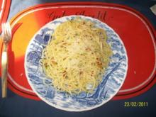 Pasta: Spaghetti all'aglio, olio e peperoncino - Rezept