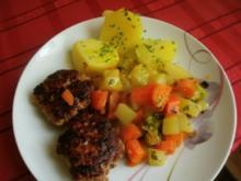 Frikadellen und buntes Gemüse - Rezept