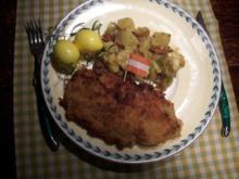Wiener Schnitzel mit Kartoffelsalat steirische Art - Rezept