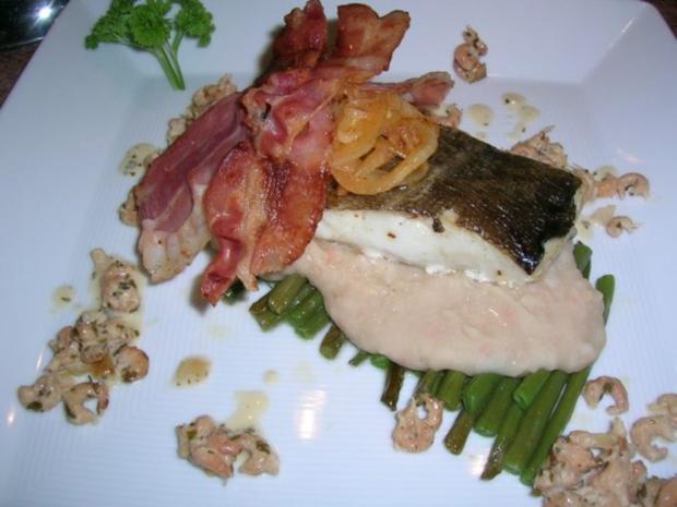 Skreifilet mit Vanille auf grünen und weißen Bohnen sowie an Krabbenragout - Rezept - Bild Nr. 6