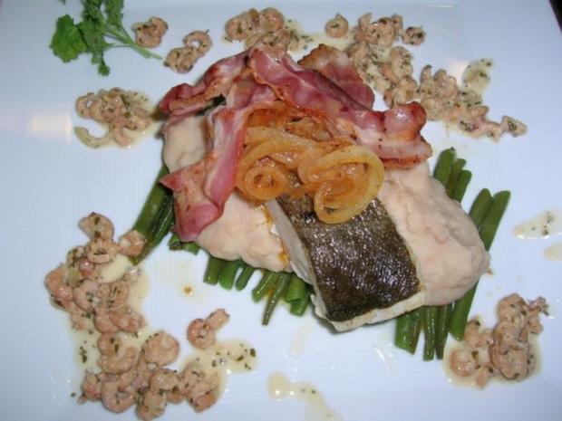 Skreifilet mit Vanille auf grünen und weißen Bohnen sowie an Krabbenragout - Rezept - Bild Nr. 7