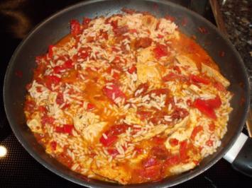 Fleisch-Tomaten-Paprika-Pfanne - Rezept