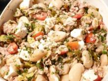 Bohnensalat mit Feta und Thunfisch - Rezept