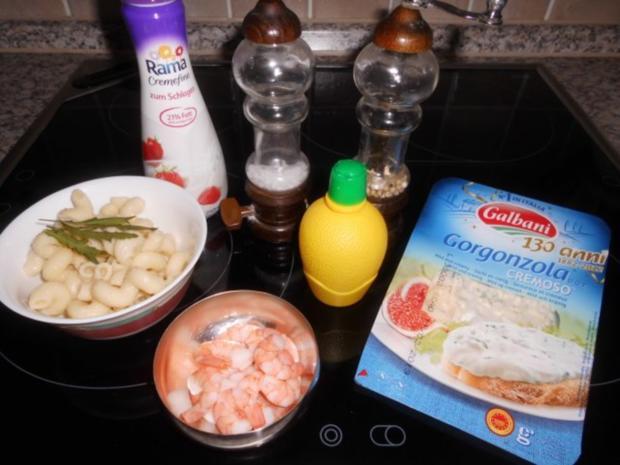 Pasta mit Gorgonzola-Garnelen>> - Rezept - Bild Nr. 2
