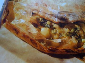 Gebackene Forelle in Backpapier mit Apfelfülle - Rezept
