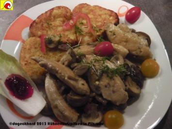1Pfannengericht: Hühnerfiletspitzen in Pilzsoße à la Gedoc - Rezept