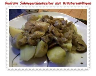 Fleisch: Sahnegeschnetzeltes mit Kräuterseitlingen - Rezept