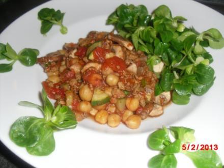 Vegetarisch- Soja-Gemüse-Pfanne, - Rezept