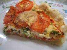 Quiche: Quiche mit Tomaten und Paprika - Rezept