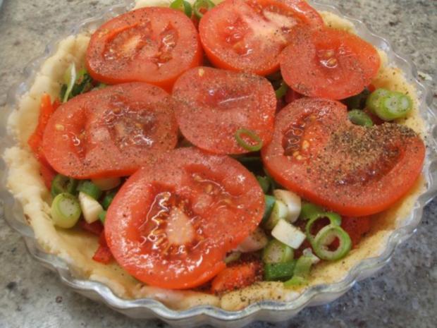 Quiche: Quiche mit Tomaten und Paprika - Rezept - Bild Nr. 7