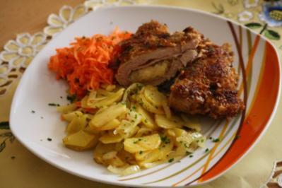 Gefüllte Käse-Zwiebel-Schnitzel - Rezept