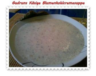 Suppe: Käsige Blumenkohlcremesuppe - Rezept