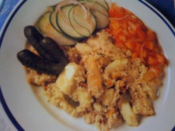 Couscous mit Hähnchen und Apfel - Rezept