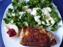 Gefülltes Schnitzel auf Feldsalat - Rezept