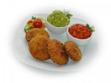 Quinoa - Gemüse - Bratlinge mit Guacamole - Rezept