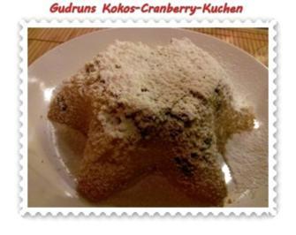 Kuchen: Kokos-Cranberry-Kuchen - Rezept