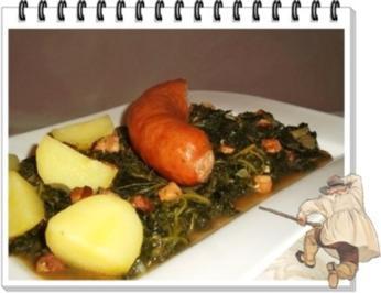 Frischer Grünkohl mit Wurst und Kartoffeln - Rezept