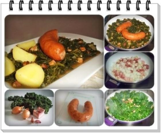 Frischer Grünkohl mit Wurst und Kartoffeln - Rezept - Bild Nr. 3