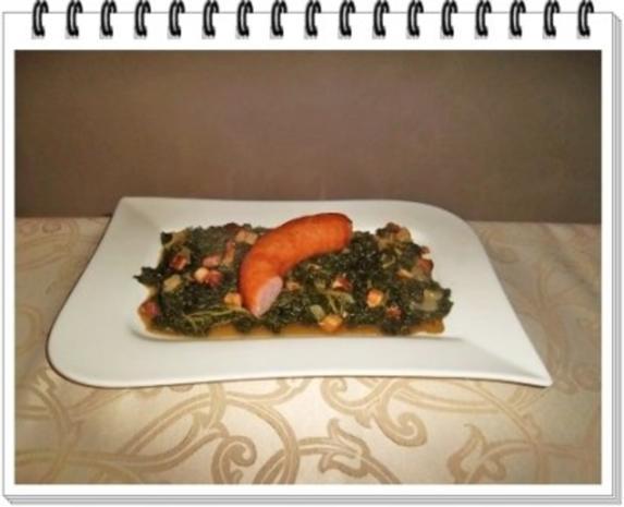 Frischer Grünkohl mit Wurst und Kartoffeln - Rezept - Bild Nr. 17