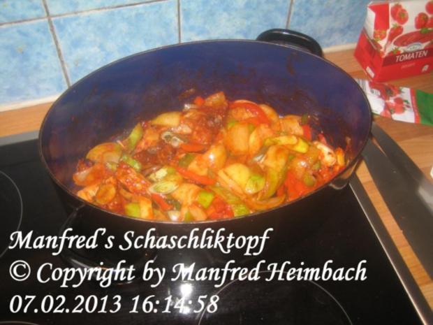 Fleisch – Manfred's Schaschliktopf - Rezept - Bild Nr. 4