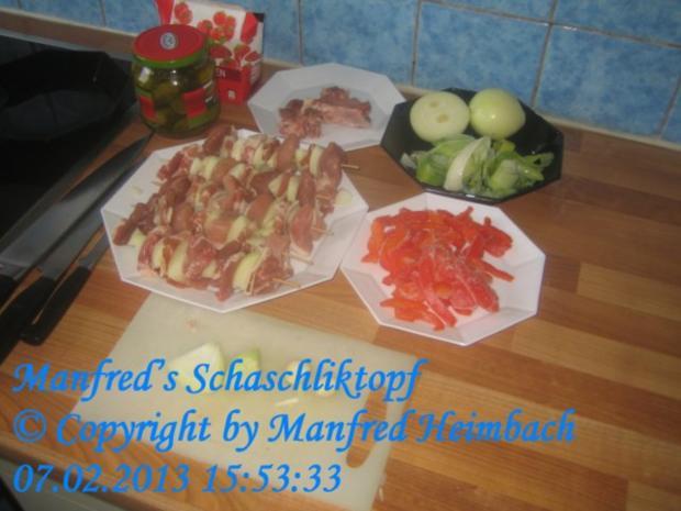 Fleisch – Manfred's Schaschliktopf - Rezept - Bild Nr. 8