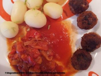 Fleischbällchen mit Letscho und Kartoffeln - Rezept